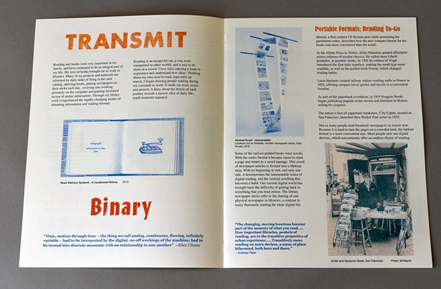 risograph artist's book about reading and commuting