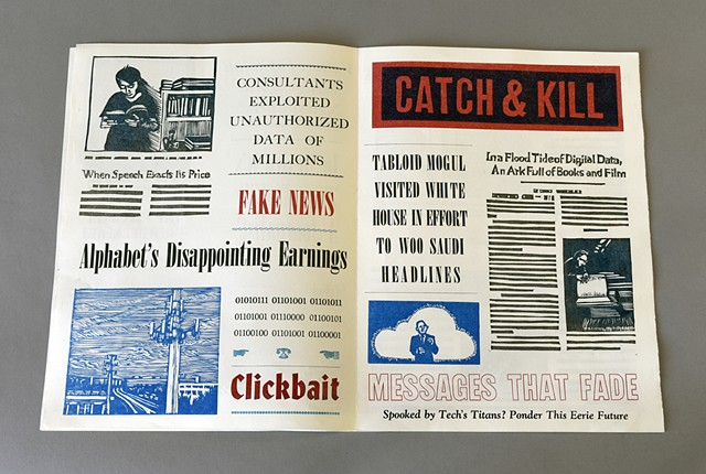 tabloid newspaper  8 page artist's book