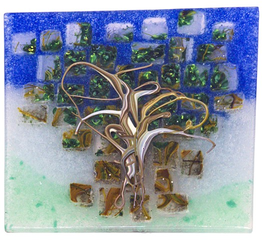 quilt, oak, tree