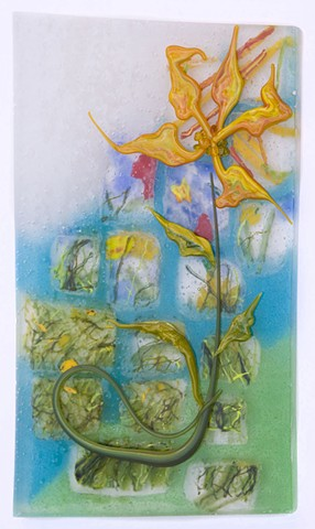 quilt, bloom, glass