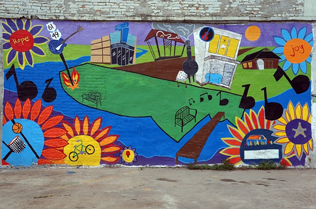 "Clarksdale Mural Project: ""Change: Haves and Don'ts"""