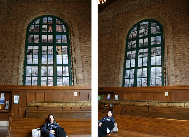 Two views of the North window showing the two different lenticular phases