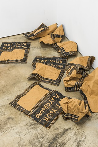 yangbinpark, print, screenprint, drawing, printmaking, politics, history, news, documentation, text, writing, installation, title, craft, floor, brown, sculpture, playground