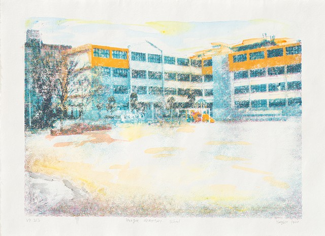 screenprint, Yangbin Park, printmaking, school, place