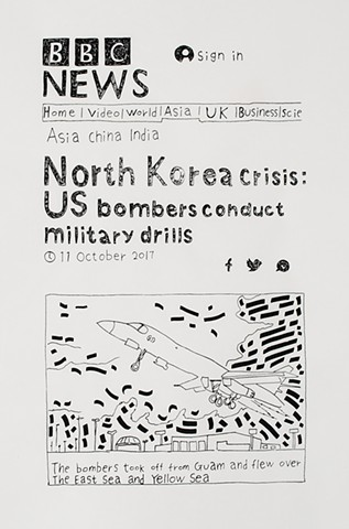 yangbinpark, print, screenprint, drawing, BBC, politics, history, news, documentation, text, writing, military