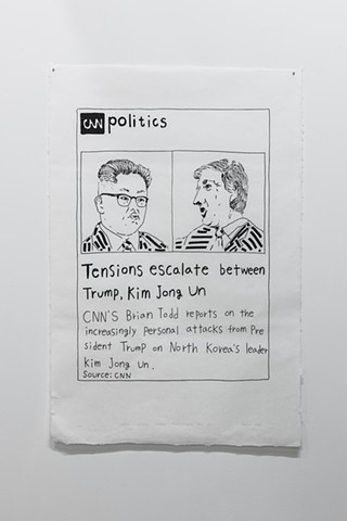 yangbinpark, print, screenprint, drawing, NYT, politics, history, news, documentation, text, writing, Trump, Korea