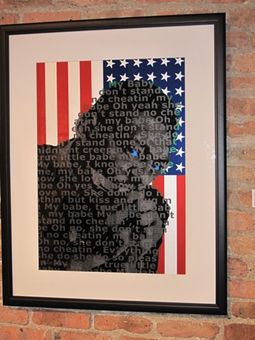 Text Portrait, PostBLACK, PostPRODUCTION. Lil Walter Blues Art