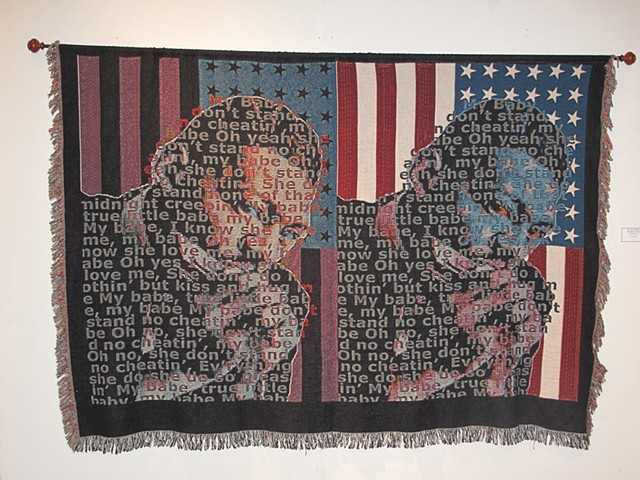 Text Portrait, PostBLACK, PostPRODUCTION. Lil Walter Blues Art, Photo Tapestry
