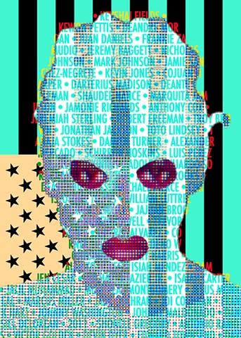 Op/Pop Art Text Portrait of Yummy Sandifer