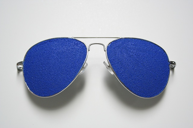 self portrait (blue sunglasses)