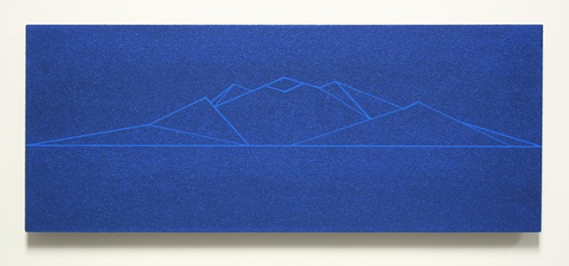 blue bead mountain study no. 2