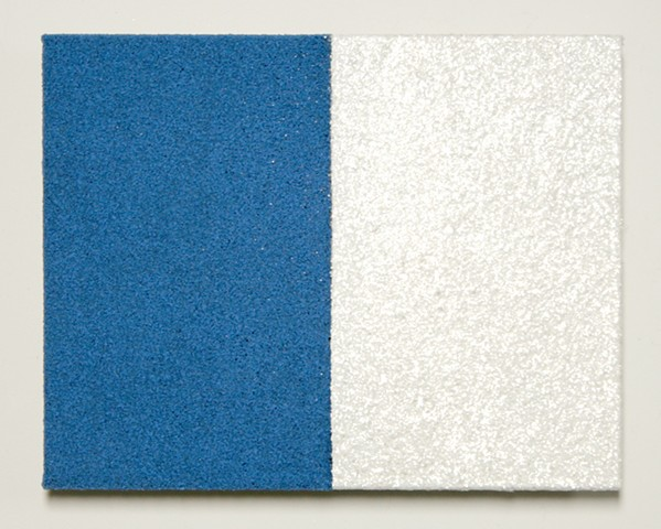 blue & white diptych