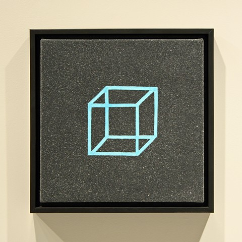 blue necker's cube