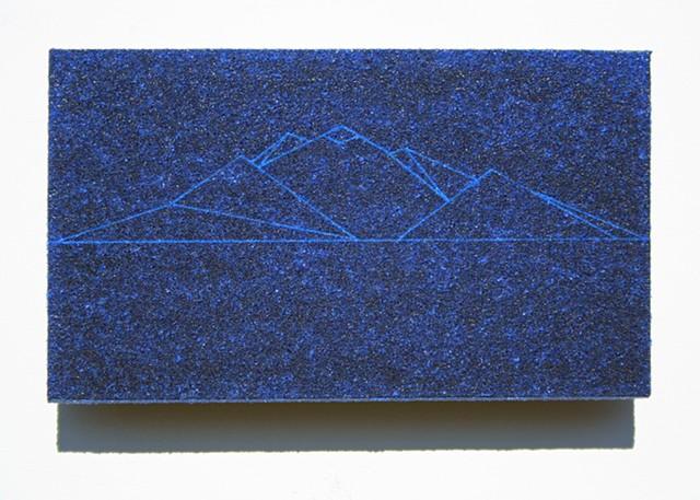 blue bead mountain study no.1