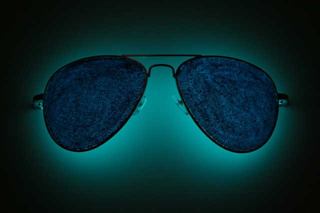 self portrait (blue sunglasses) [night view]