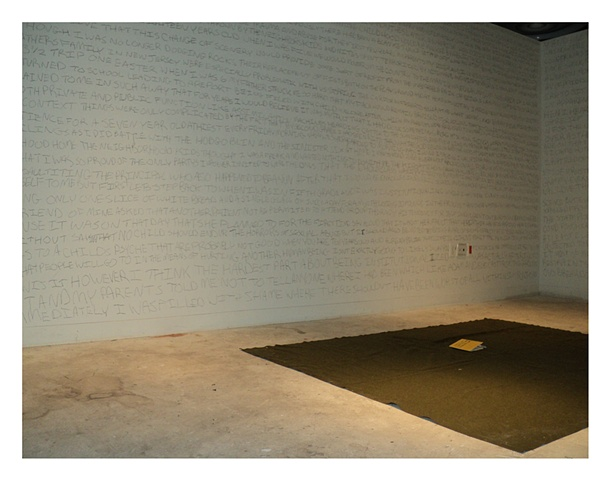 An ephemeral installation at The Pennsylvania Academy of Fine Arts addressing memory and trauma.