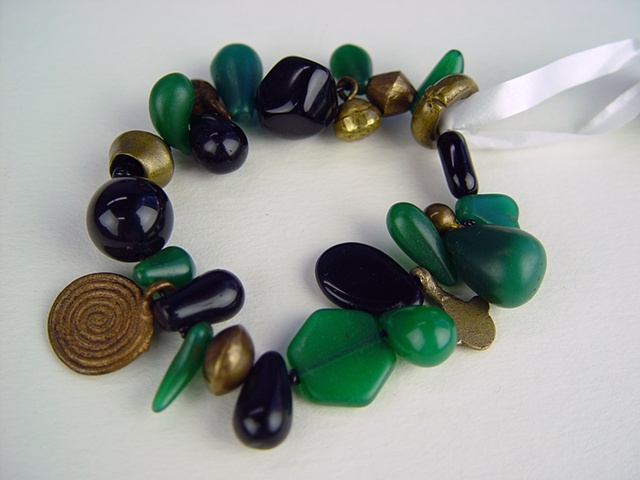 107 Bracelet - Viridian Marriage Beads
