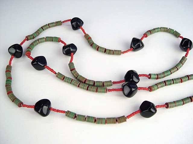 118  Rope - Green and Red Cellulose