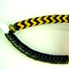 112  Bracelet - Black and Cadmium Yellow Medium