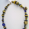 124  Necklace - Ultramarine Blue and Naples Yellow,