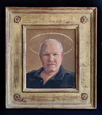 Lucille Berrill Paulsen, icons, saint, halos, Leo Revi, artist,