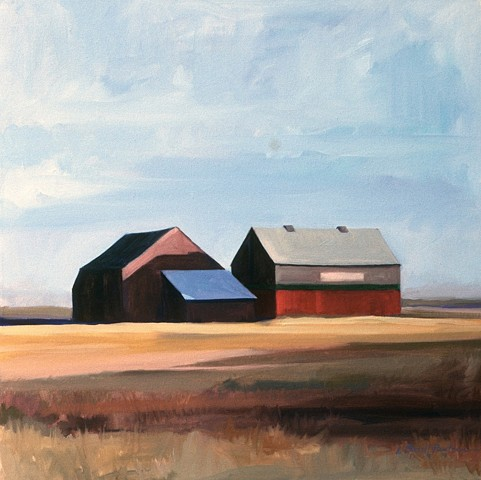 Corwith, barns, fields, skies, Water Mill NY