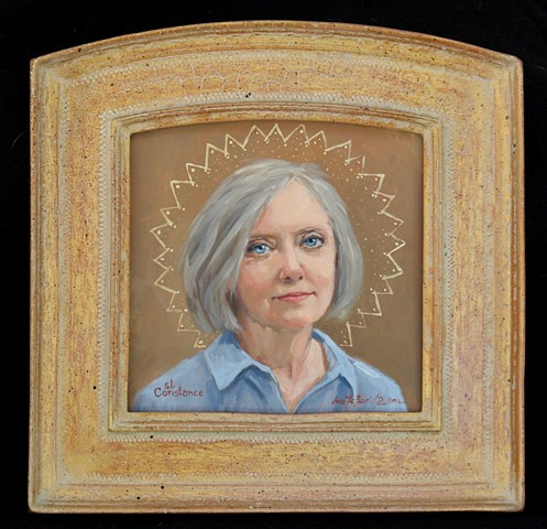 icons, saints, halos, Constance Berrill, Constance Norbeck