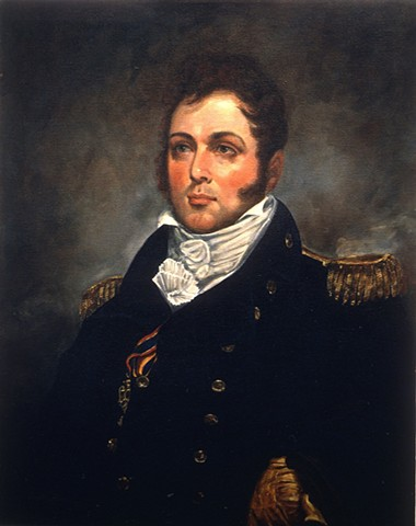 Commodore Oliver Hazard Perry, Battle of Lake Erie, War of 1812, war hero, icons