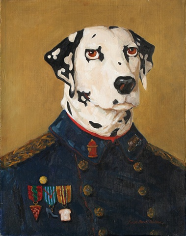 dalmatian, medals, dress blues