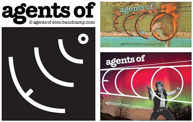 Agents of ECCO  Design of band logo, handbills and stickers