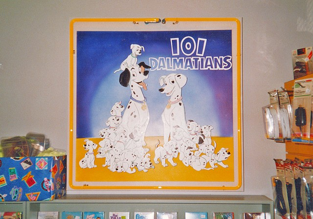 101 Dalmations Display 4'x4' Foamcore, acrylic paints + sharpie  Client: Tower Records + Video