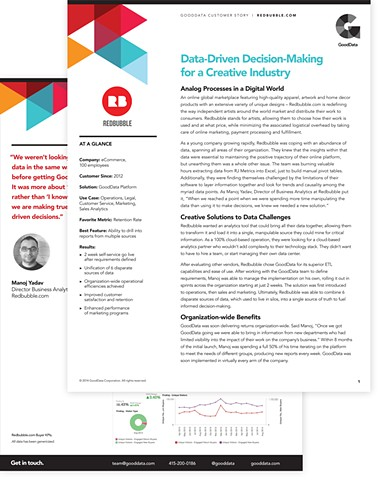 Case Study Design template  Client: GoodData