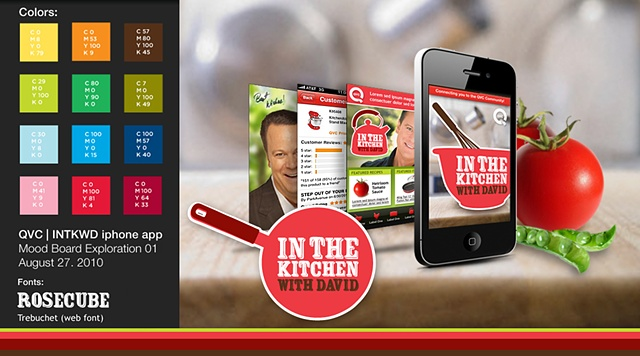 QVC / In The Kitchen With David  iPhone App - Initial Moodboard