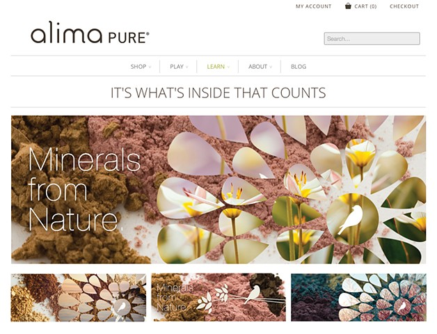 Alima Pure website banner designs  Client: Fancypants Design