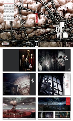 Design of The Art of  The Evil Within book   Client: Dark Horse Comics