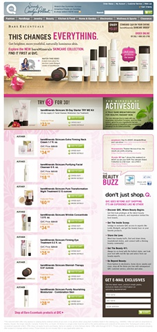 QVC / Bare Escentuals  eCommerce Website
