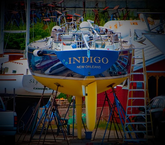 Indigo - @ Knight's Boat Yard in Rockland from the ferry