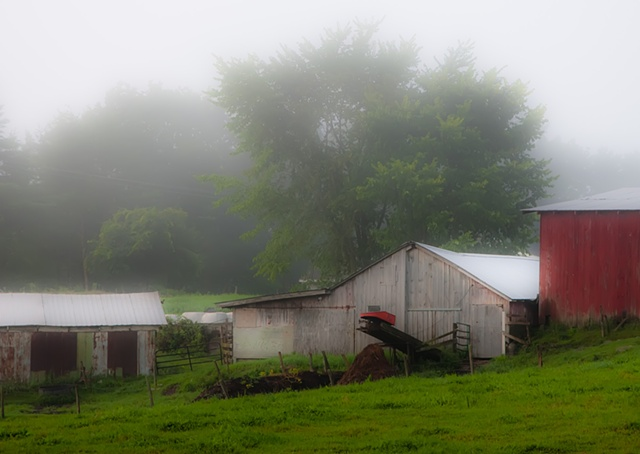 Farm in Fog- Detail