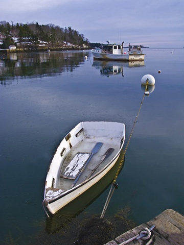 Rowboat in Winter