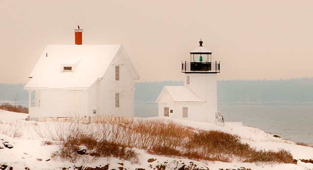 Curtis Island Light after Snow