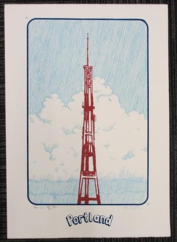 Portland radio tower