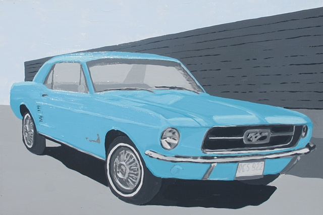 Mustang 1966 Teal Commission Fastback