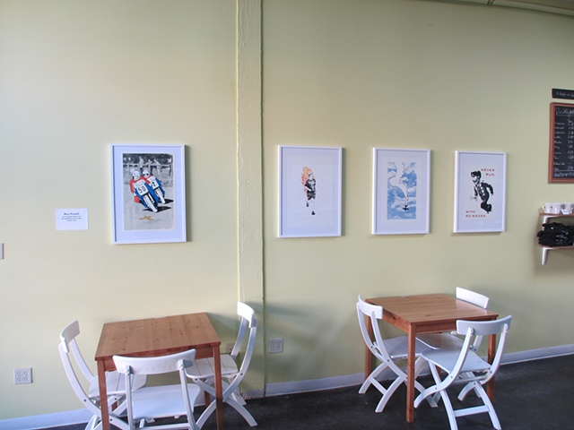 Installation photo from Porchlight Coffee & Records