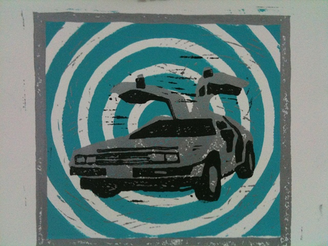 Delorean (teal)