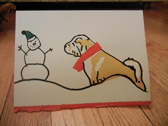 Shar Pei Christmas Card