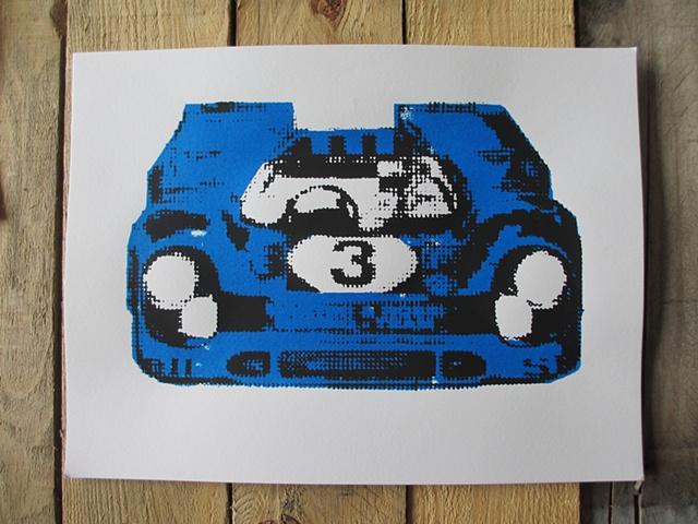 Race Car (Blue)