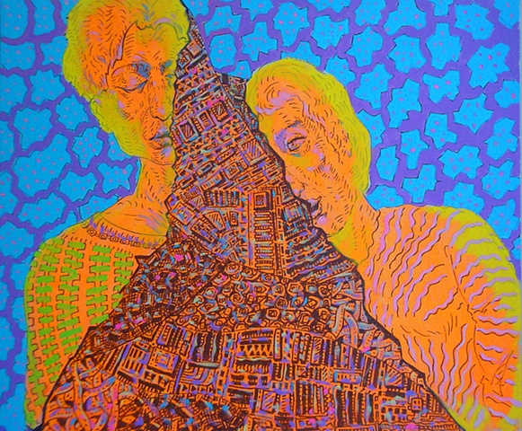 She and He, Acrylic on Canvas, 2006