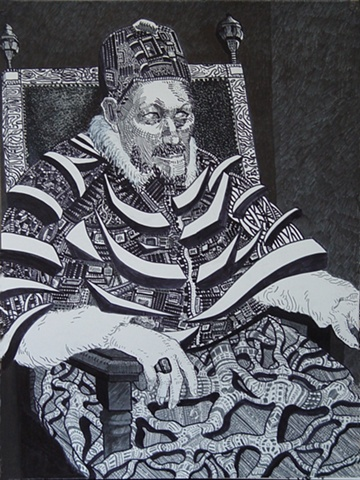 Pope, Pen on Paper, 2003