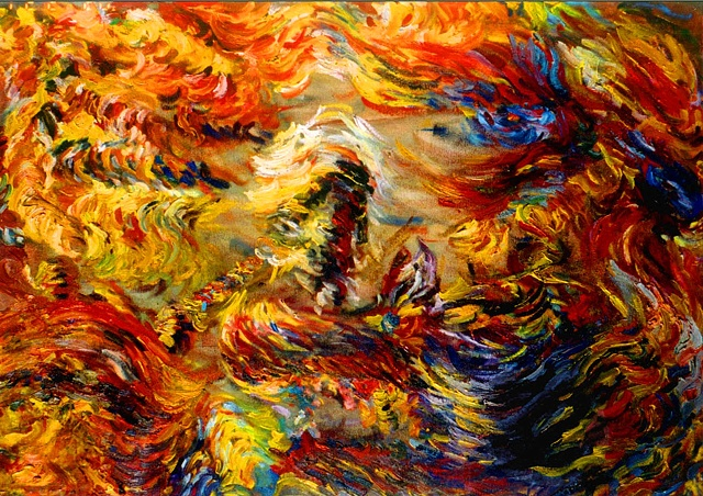 Fire, Oil on Canvas, 2000