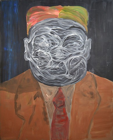 "PWOS01E10 Kim Jong Un's Dorian Gray, 58 x 72"", Acrylic on Canvas, 2015"